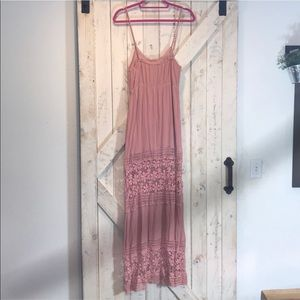 Tobi Dresses - Tobi Mauve Maxi Dress Crochet
